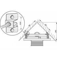 Адаптер Alcaplast M918 для крепления инсталляции в угол