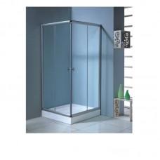 AURORA душ кабина квадратная 80*80*180 + Поддон мелкий 80*80 см квадратный 15 см