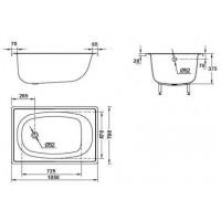 Bанна прямоугольная Aquart 105х70 см без сидения