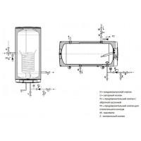 Бойлер косвенного нагрева (БЕЗ ТЭНА) Drazice OKC 125 NTR/Z model 2016, 125 л. 1103508101