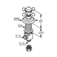 Боковой вентиль  KLUDI ADLON  518174520