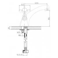 Cмеситель двухвентильный IMPRESE Cuthna antiqua 05280 для раковины бронза