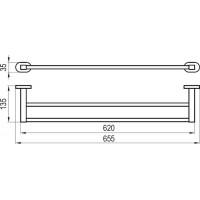 Держатель для полотенца 66 см Ravak CR 320 X07P193