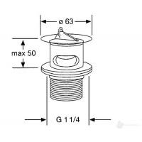 Донный клапан Kludi push-open, хром 1042705-00