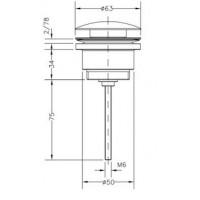 Донный клапан LUXE хром CLICK 10021145