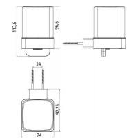 Дозатор для жидкого мыла Emco Loft Black, 0521 133 03
