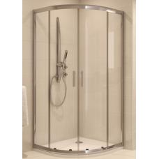 Душ штора Cersanit NAMA 90*90*190 полукруглая, профиль хром, стекло бронза