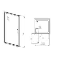 Душевая дверь AQUAFORM  LUGANO 80  103-06705M