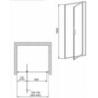 Душевая дверь AQUAFORM NIGRA  90х185 103-092112P