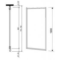 Душевая дверь  боковая  KOLO GEO 6 80 стекло PRISMATIC GSKS80205003