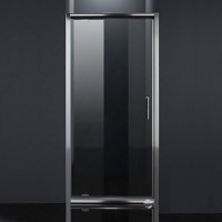 Душевая дверь EGER 80 (599-150-80), хром профиль, стекло,распашные