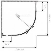 Душевая штора KOLO NEXT 80х80 HKPF80222003
