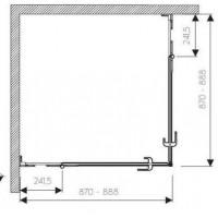 Душевая штора KOLO NEXT 90х90  HKDF90222003
