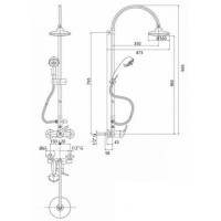 Душевая система Bianchi STAR ESDSTR 202 500 CRM