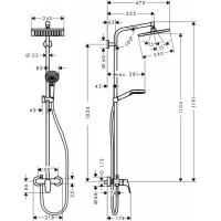 Душевая система Crometta E 240 1jet Showerpipe ( 27284000 )