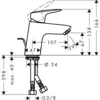 Душевая система Hansgrohe 27135000 с термостатом + Смеситель Hansgrohe Logis 71070000 (27135000+71070000)