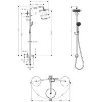 Душевая система Hansgrohe Croma 220 Showerpipe 27224000