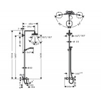 Душевая система Hansgrohe Croma Select E 180 Душевая система для ванны, хром ( 27352400 )