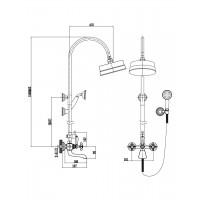 Cмеситель двухвентильный IMPRESE Cuthna zlato 10280 для ванны золото