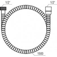 Душевий шланг Ravak 150 см 911.00 X07P006
