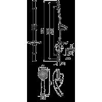 Душевой гарнитур Ferro AVO  N53  3-функционный с мыльницей
