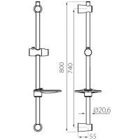 Душевой гарнитур Ferro Vita N44 1-функциональный с мыльницею