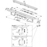 Душевой канал Ravak FLOOR 1050, нержавеющая сталь