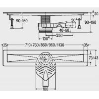 Душевой лоток Viega Advantix Basic  1000 мм