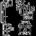 Душевой набор смесителей для душа HANSGROHE для душа Logis Loop 1052017 (71150000+71247000+27728000)
