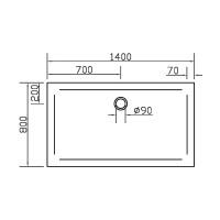 Душевой поддон прямоугольный Eger SMC, 140x80x3,5, 599-1480S