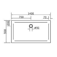 Душевой поддон прямоугольный Eger SMC, 140x90x3,5, 599-1490S