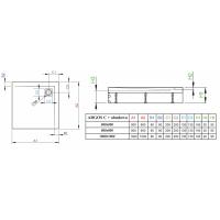 Душевой поддон RADAWAY Argos C со съемной панелью, 80x80, 4ACN88-02