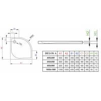 Душевой поддон RADAWAY Delos A, 80x80, SDA0808-01