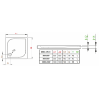 Душевой поддон RADAWAY Delos C, 80x80, SDC0808-01