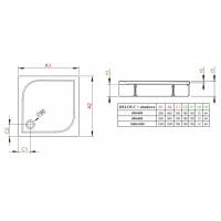 Душевой поддон RADAWAY Delos C, с панелью, 80x80, 4C88170-03