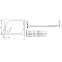 Душевой поддон RADAWAY Delos D, 80x75, 4D87545-03