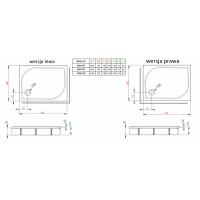 Душевой поддон RADAWAY Delos D с панелью, 80x75, 4D87514-03L/R