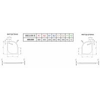 Душевой поддон RADAWAY Delos E, 90x80, SDE9080-01L / SDE8090-01R