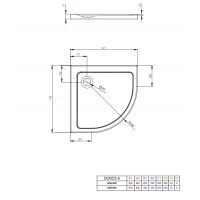 Душевой поддон RADAWAY Doros A, 80x80, SDRA8080-01