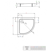Душевой поддон RADAWAY Doros A Compact, 80x80, SDRA8080-05