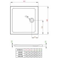 Душевой поддон RADAWAY Doros C, 80x80, SDRC8080-01