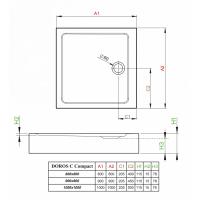 Душевой поддон RADAWAY Doros C Compact, 80x80, SDRC8080-05