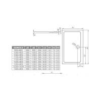 Душевой поддон RADAWAY Doros D, 90x80, SDRD9080-01