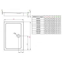 Душевой поддон RADAWAY Doros D Compact, 90x80, SDRD9080-05