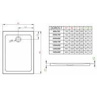Душевой поддон RADAWAY Doros F, 90x70, SDRF9070-01