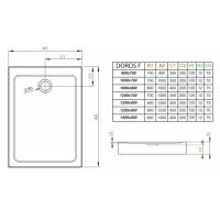 Душевой поддон RADAWAY Doros F Compact, 90x70, SDRFP9070-05