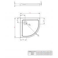 Душевой поддон RADAWAY Doros Plus A, 80x80, SDRPA8080-01