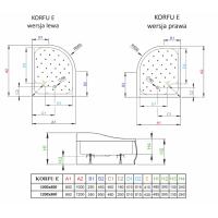 Душевой поддон RADAWAY Korfu E, 100x80, 4E81400-03L/R