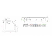 Душевой поддон RADAWAY Laros A Compact, 85x85, SLA8585-01