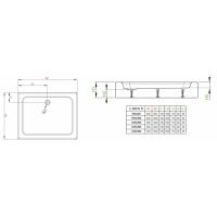 Душевой поддон RADAWAY Laros D Compact, 80x90, SLD8917-01